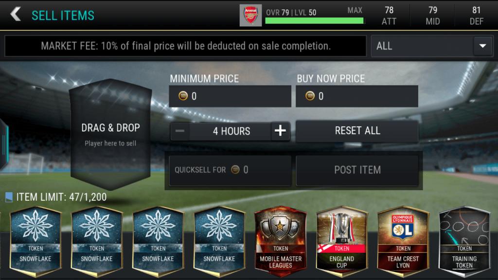 FIFA 17 mobile poradnik market